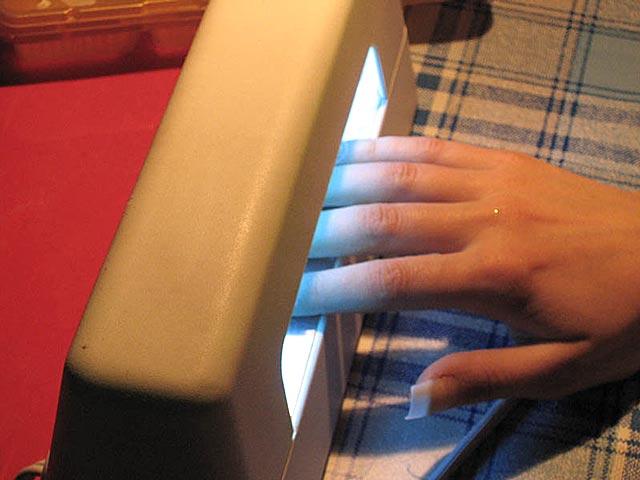 Наращивание ногтей гелем в уф лампе